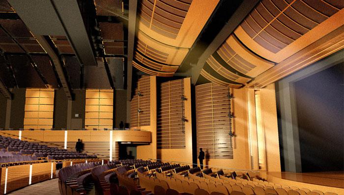 Ứng dụng gỗ tiêu âm nhà hát