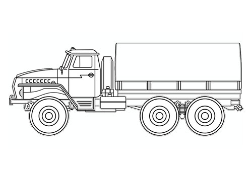Tranh tô màu ô tô tải 11