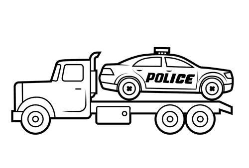 Tranh tô màu ô tô tải 12