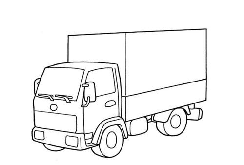 Tranh tô màu ô tô tải 2