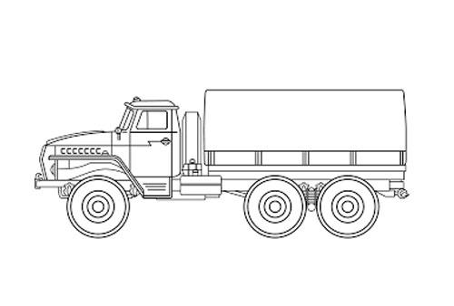 Tranh tô màu ô tô tải 3