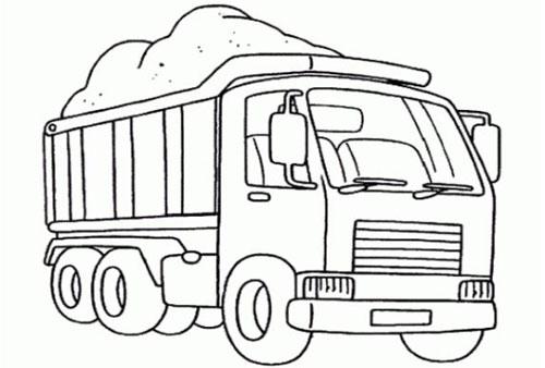 Tranh tô màu ô tô tải 4