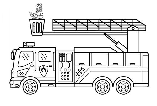 Tranh tô màu ô tô tải 5