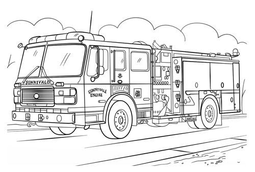 Tranh tô màu ô tô tải 6