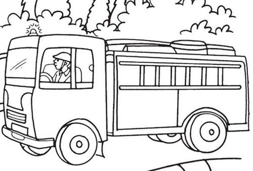 Tranh tô màu ô tô tải 7