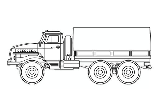 Tranh tô màu ô tô tải 8