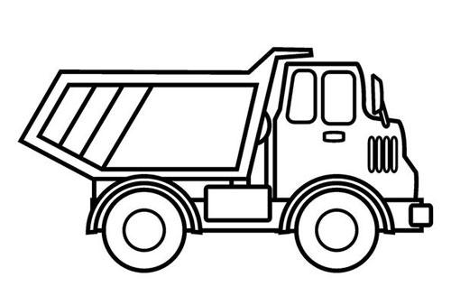 Tranh tô màu ô tô tải 9
