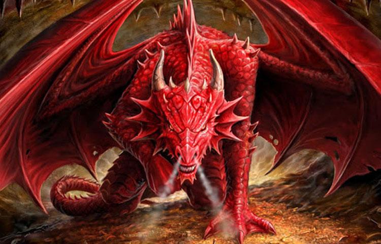 Hình ảnh đẹp 3D rồng đỏ