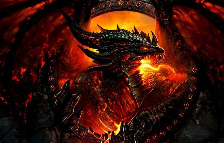 Hình ảnh đẹp 3D rồng lửa
