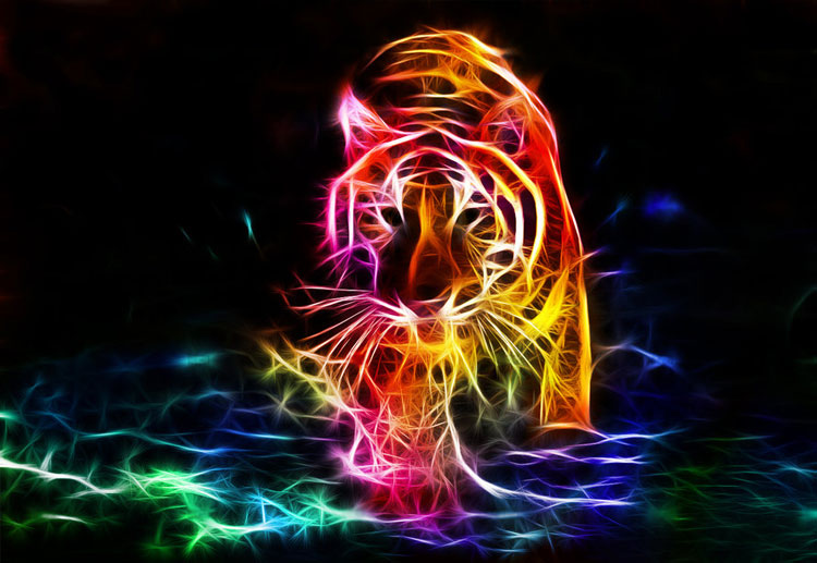 Ảnh đẹp 3D về hổ