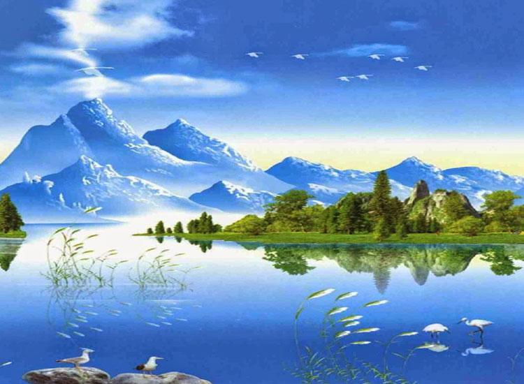 Hình ảnh về đồi núi 3D