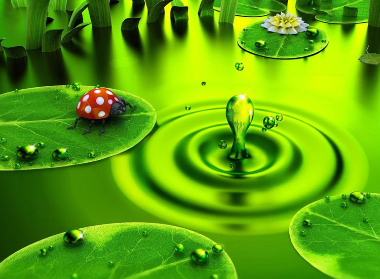 Hình ảnh 3d về giọt nước