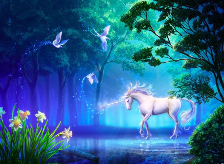 Hình ảnh thiên nhiên 3D về chú ngựa