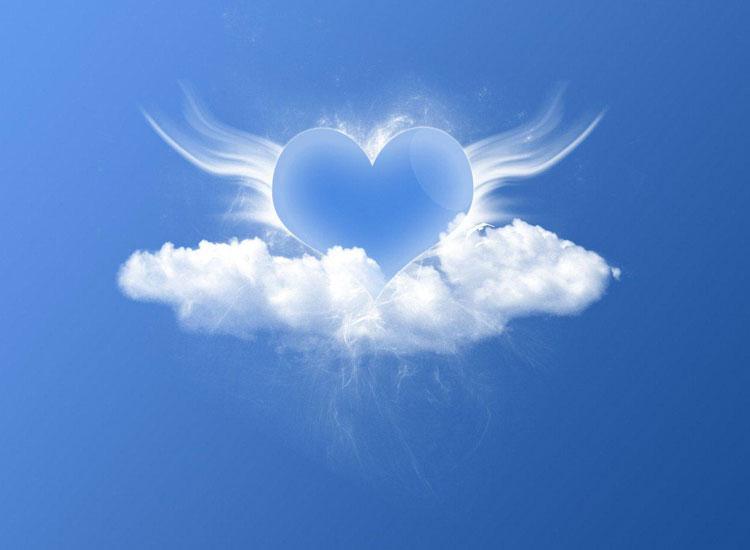 Ảnh 3d hình mây trái tim