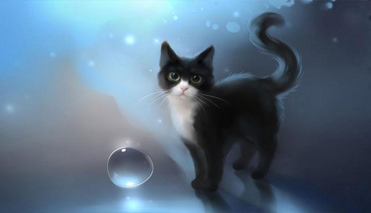 Chú mèo 3d đáng yêu