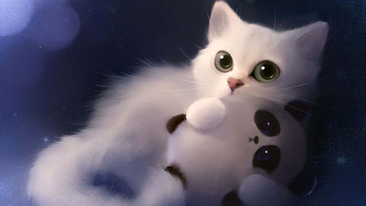 Chú mèo 3d xinh đẹp