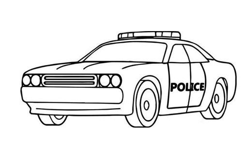 Tranh tô màu xe ô tô cảnh sát