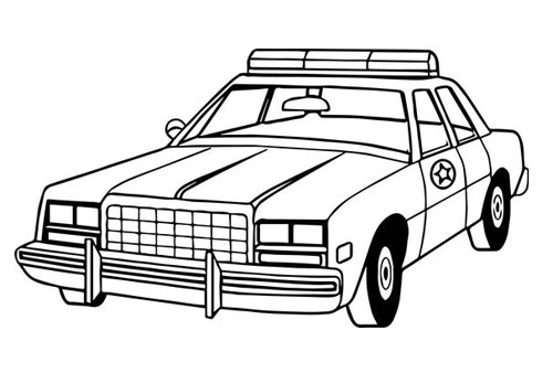 Tranh tô màu xe ô tô cảnh sát 3