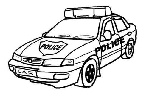 Tranh tô màu xe ô tô cảnh sát 4