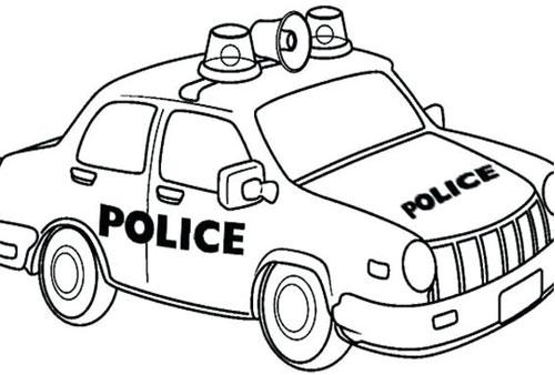 Tranh tô màu xe ô tô cảnh sát 5