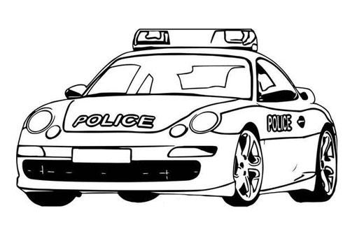 Tranh tô màu xe ô tô cảnh sát 6
