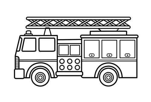 Tranh tô màu xe ô tô cứu hỏa 2