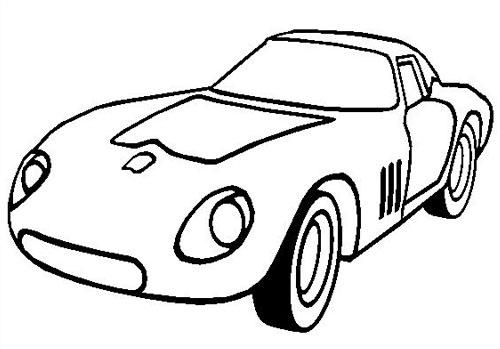 Tranh tô màu xe ô tô đua 5