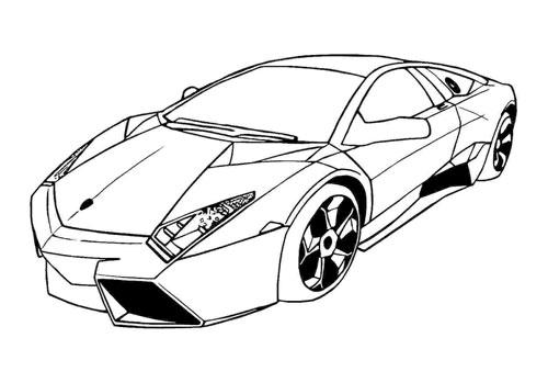Tranh tô màu xe ô tô đua 6
