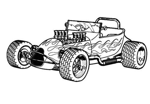 Tranh tô màu xe ô tô đua 8