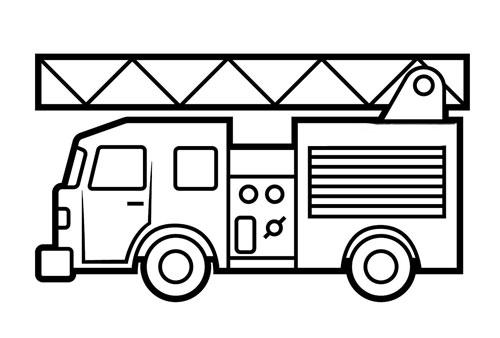 Tranh tô màu xe ô tô cứu hỏa 4