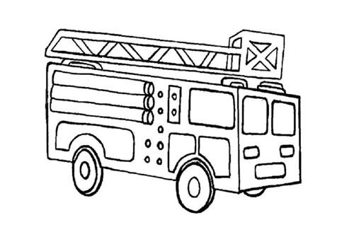 Tranh tô màu xe ô tô cứu hỏa 6