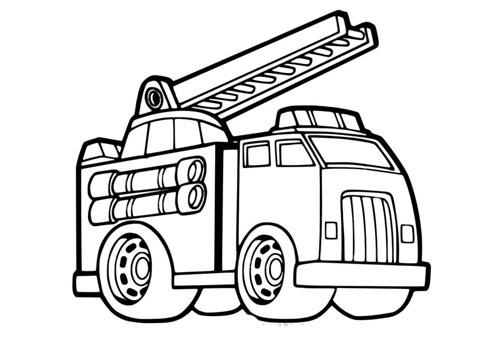 Tranh tô màu xe ô tô cứu hỏa 3
