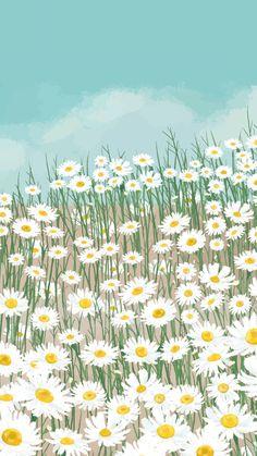 Hình nền điện thoại trăm hoa đua nở