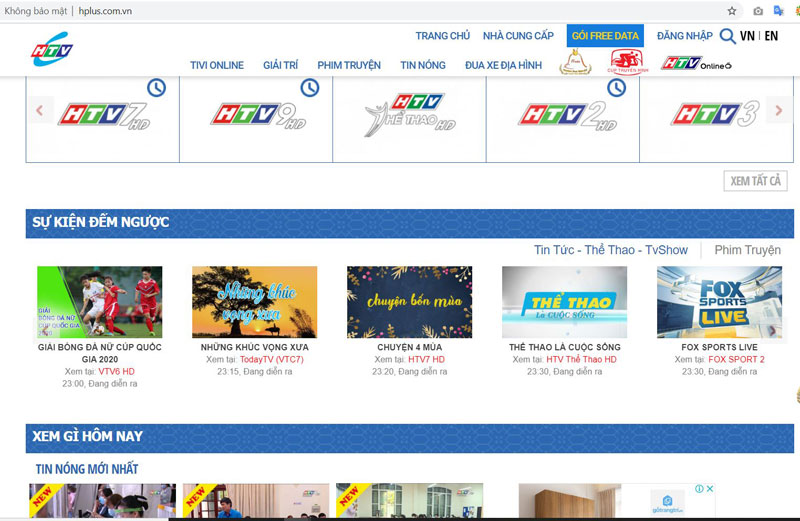 Trang web Hplus.com.vn
