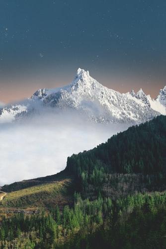 Hình nền iPhone 7, iPhone 7S, iPhone 7 Plus đẹp, Độc Đáo về núi tuyết