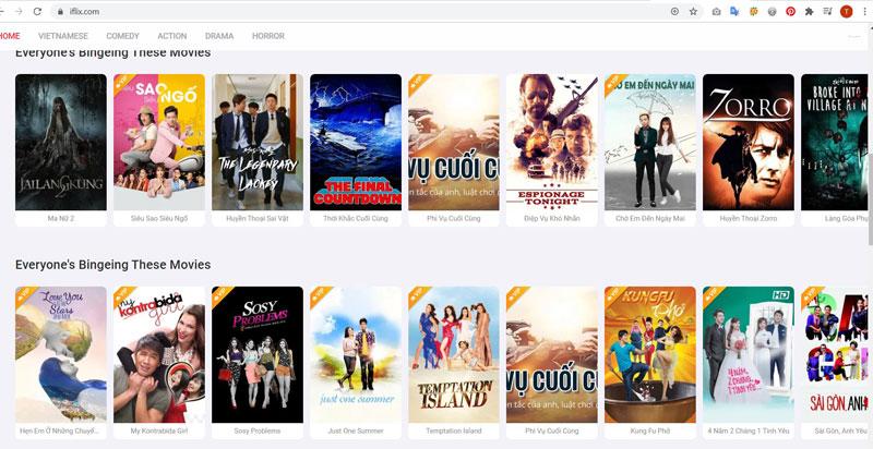 Trang xem phim Iflix.com