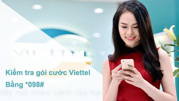 Kiểm tra gói cước Viettel bằng *098#