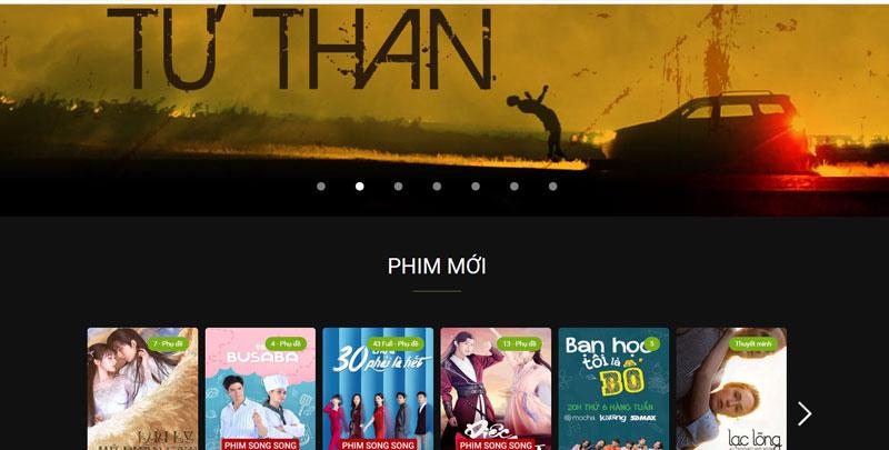 Trang web xem phim Phim.keeng.vn