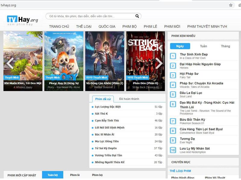 Trang xem phim Tvhayz.org