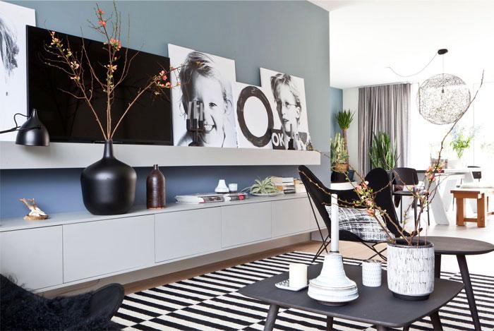 Kệ tivi thiết kế đặt trên sàn phù hợp với cấu trúc nhiều không gian