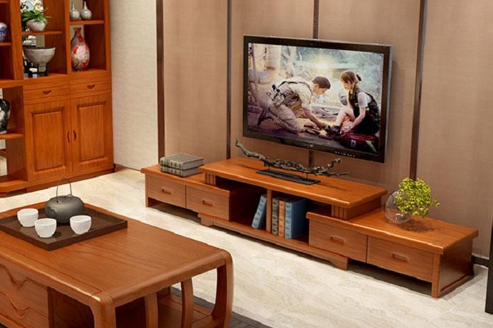 Kệ tivi làm từ gỗ xoan đào