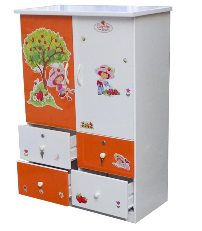 Tủ nhựa Đài Loan 2 cánh 4 ngăn dành cho trẻ em