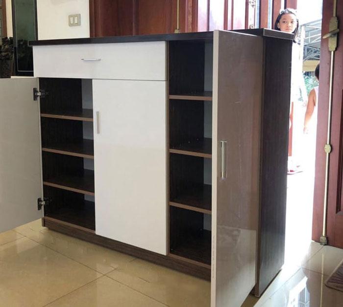 Mẫu tủ giày bằng nhựa đài loan đẹp và tiện dụng nhiều ngăn
