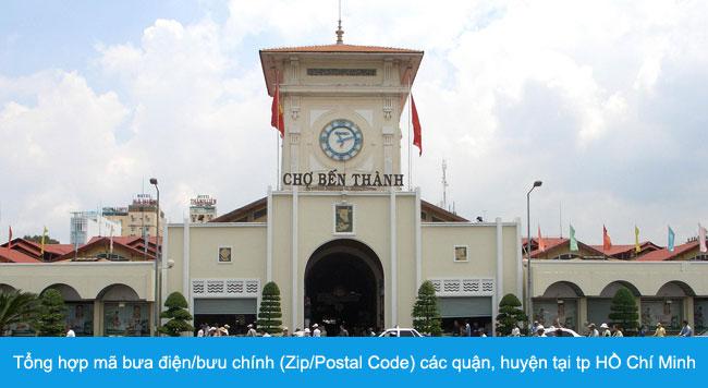 Tổng hợp mã bưa điện/bưu chính (Zip/Postal Code) các quận, huyện tại tp HỒ Chí Minh