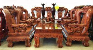 Bàn ghế gỗ Cầm Lai