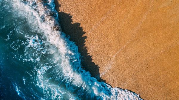 Hình nền dành cho máy tính sóng biển đẹp