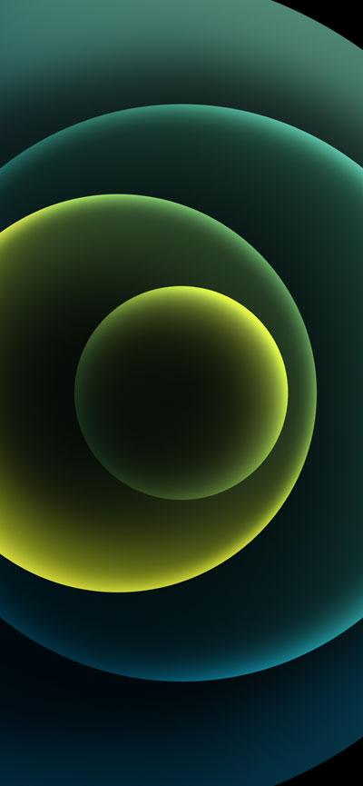 Hình nền iPhone 12 Green Dark