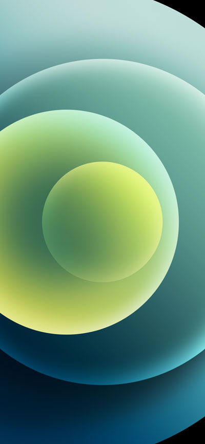 Hình nền iPhone 12 Green Light