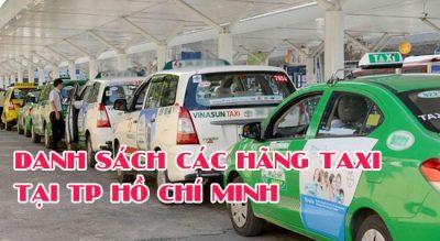 Danh sách số điện thoại taxi ở tại thành phố Hồ Chí Minh