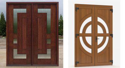 Mẫu cửa 2 cánh đẹp làm bằng gỗ